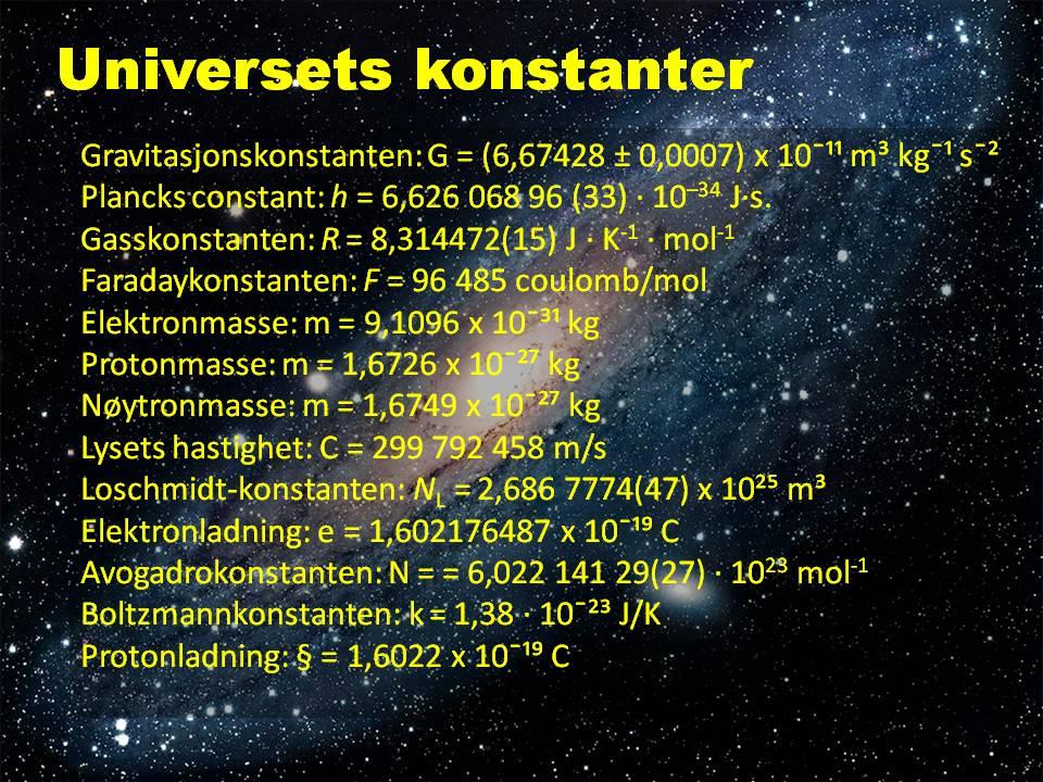 Universets konstanter